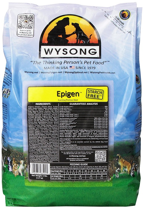 Wysong dog food bag