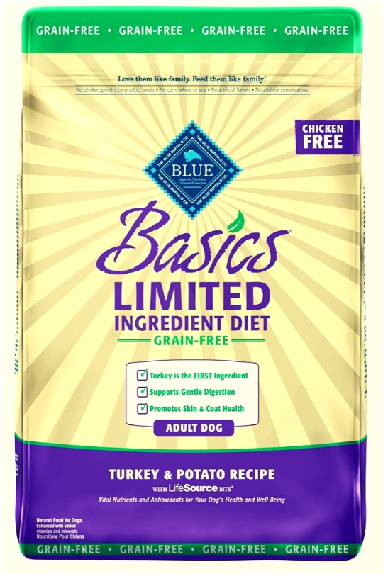 Blue Buffalo Dog Basic Grain-free Turkey Potato 11 Lbs.