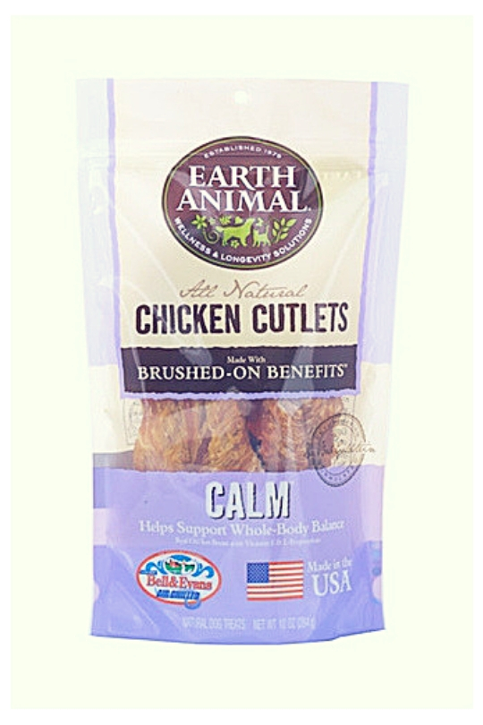 Earth Animal Calm USA Chicken Jerky Dog Treats, 8 Ounces