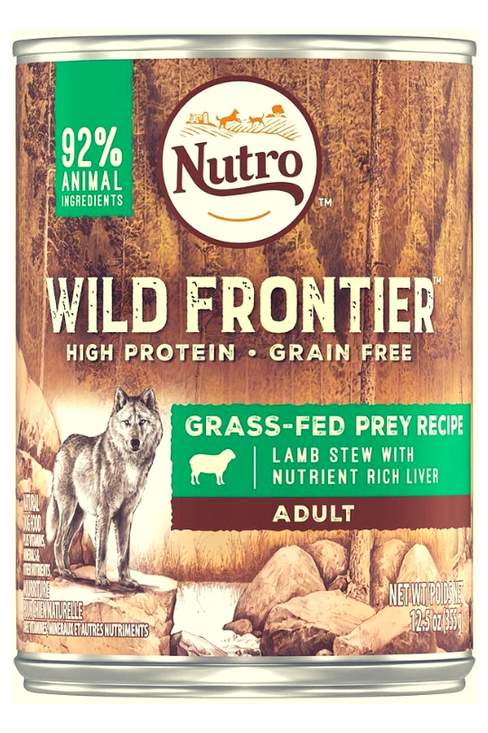 NUTRO Wild Frontier Grass Fed Prey Lamb Stew Canned Dog Food 12ea/ 12.5oz