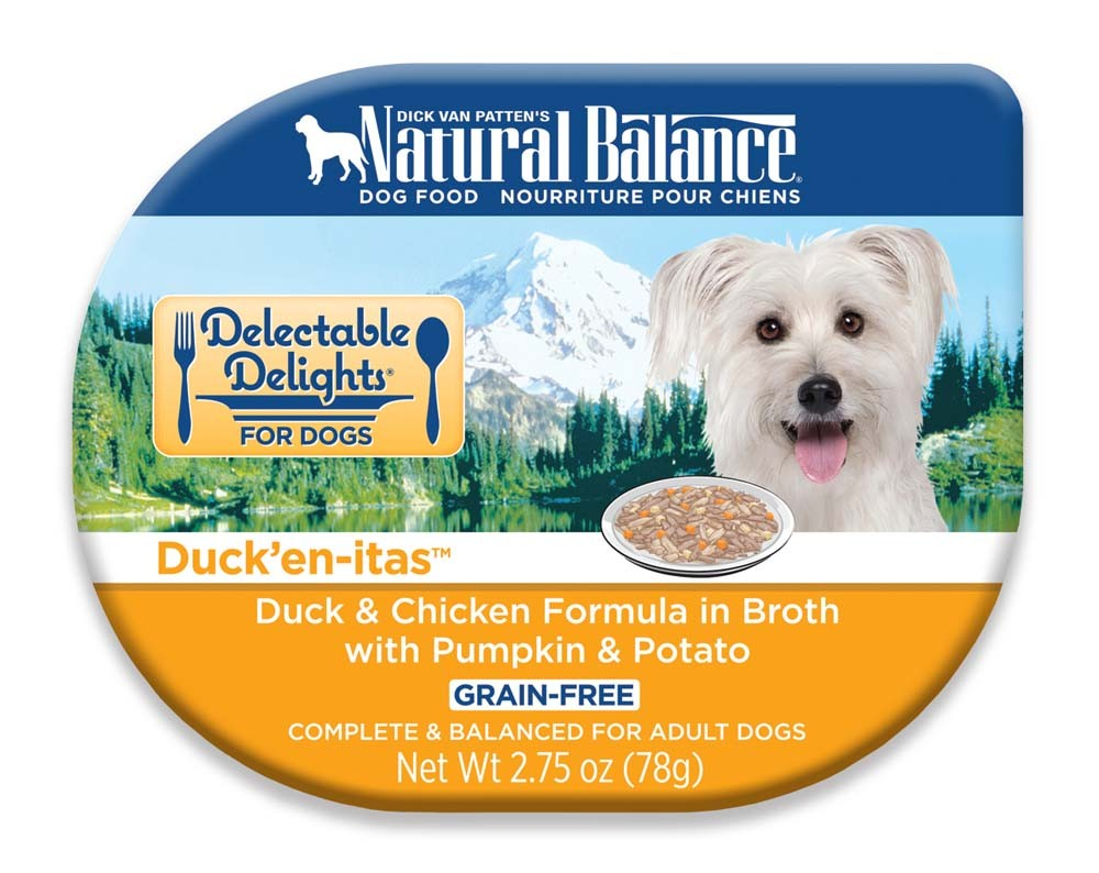 Natural Balance Delectable Delights Duck'en-itas in Broth Dog Food 24ea/2.75oz