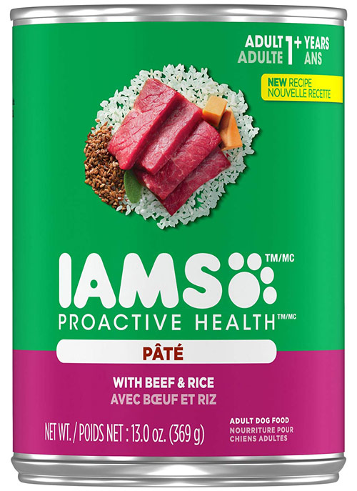 Iams Wet Dog ProActive Health of Rice Pate with Beef
