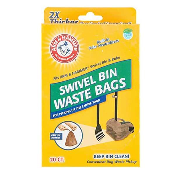 Arm & Hammer Swivel Bin Waste Bags, 20 count