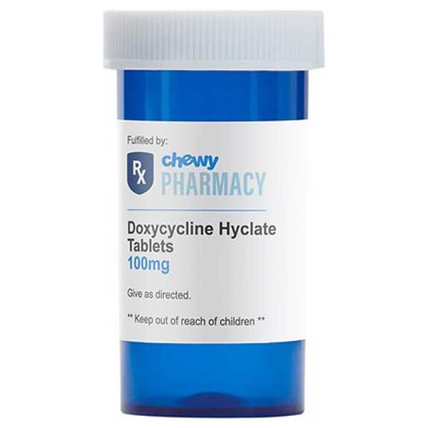 Doxycycline Hyclate (Generic) Tablets, 100-mg, 1 tablet