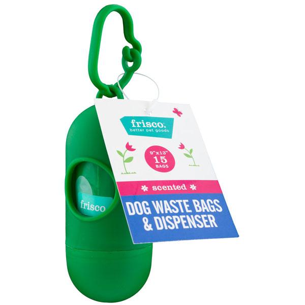 Frisco Dog Poop Bags + Dispenser, 15 count