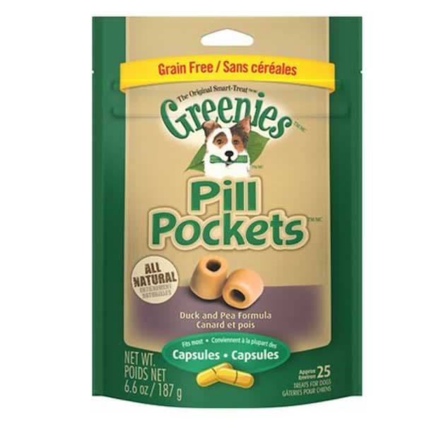 Greenies Pill Pockets Canine Roasted Duck & Pea Formula Grain-Free Dog Treats