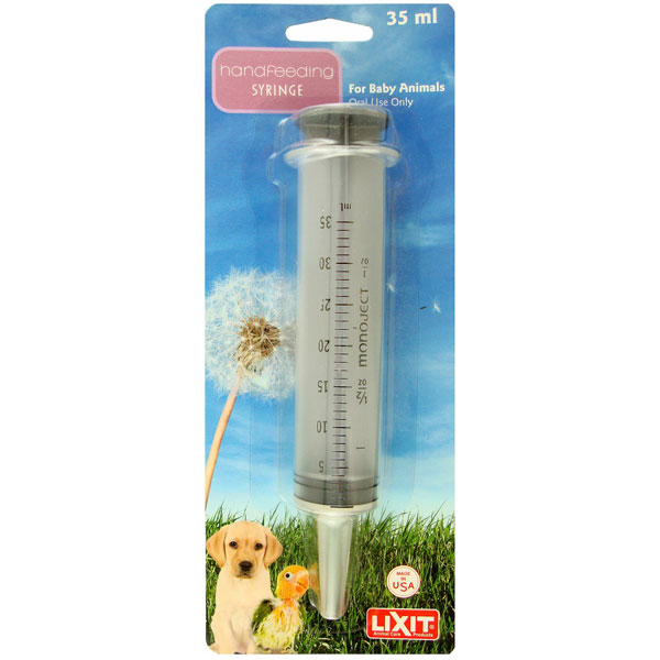 Lixit Handfeeding Syringe, 35-mL