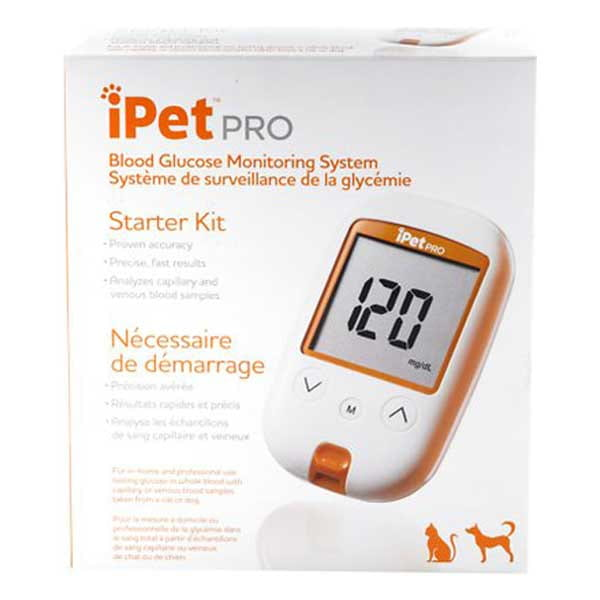 iPet PRO Blood Glucose Monitoring System Starter Kit for Dogs & Cats